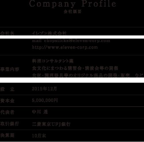 会社概要 COMPANY PROFILE
